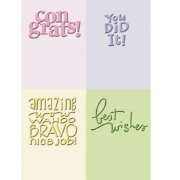 Cuttlebug® Embossing Folder Mini Set - Congrats