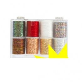 Kars Metallic Thread Box - 8 Rolls