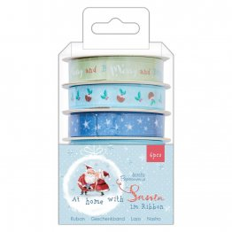 Papermania® At Home With Santa - Ribbon Reels (6 x 1m)