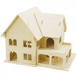Creativ Company® 3D Wooden Construction Kit - Villa