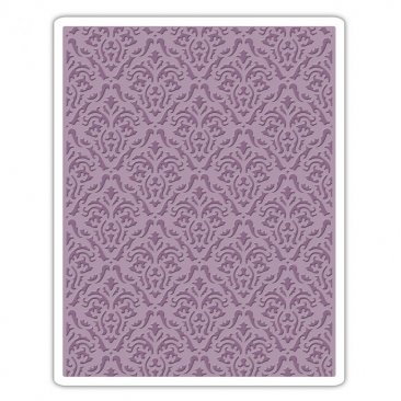 Sizzix® Texture Fades™ Embossing Folder - Damask by Tim Holtz™