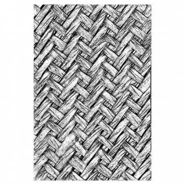 Sizzix® 3-D Texture Fades™ Embossing Folder - Intertwined by Tim Holtz®