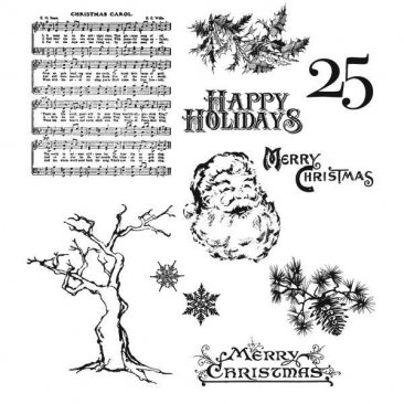 Tim Holtz® Cling Mounted Stamp Collection - Mini Holidays 3
