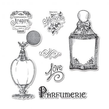 Sizzix™ Stamp & Die-cut Framelits Set (7pk) - Parfumerie by GRAPHIC 45