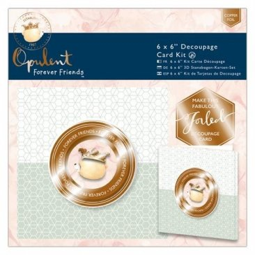 DoCrafts® Opulent Forever Friends™ Collection - 6 x 6 Decoupage Card Kit