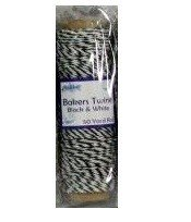 Creative Expressions Bakers Twine Black & White 1 roll x 50yds