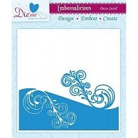 6in x 6in Embossalicious™ Embossing Folder by Crafter's Companion™ - Deco Swirl